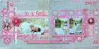 It's A Girl Scrapbook Page Kit