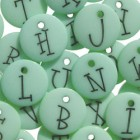 Junkitz Alphabet Buttons Mint Green