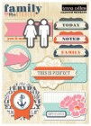 Teresa Collins Family Stories Layered Stickers