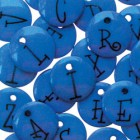 Junkitz Alphabet Buttons Navy Blue
