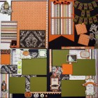 Halloween Double Set of Scrapbook Page Kits