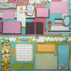 Keepin' Cool Two Layout Scrapbook Page Kit Set