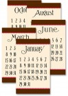 Various Paper Jenni Bowlin Calendar Cards Brown Red