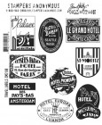 Tim Holtz Travel Labels Stamp Set
