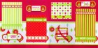 Various Paper Be Jolly Scrapbook Page Kit
