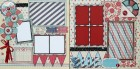 Red, White & Blue Scrapbook Page Kit
