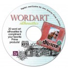 Prima Wordart Silhouettes Digital CD