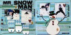 Mr. Snowman Scrapbook Page Kit