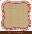 Fancy Pants Designs Vintage Valentine Ledger Floral