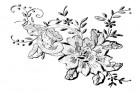 Donna Salazar Flower In Lace Rubber Stamp