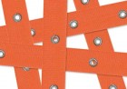 Orange Ribbon Junkitz Cousins Trimz Eyelet Tape