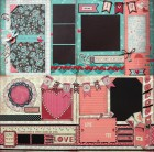 Love Double Set of Scrapbook Page Kits