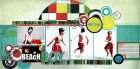 Beach Boy Scrapbook Page Kit