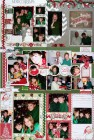 Various Paper Christmas Triple Set of Scrapbook Page Kits