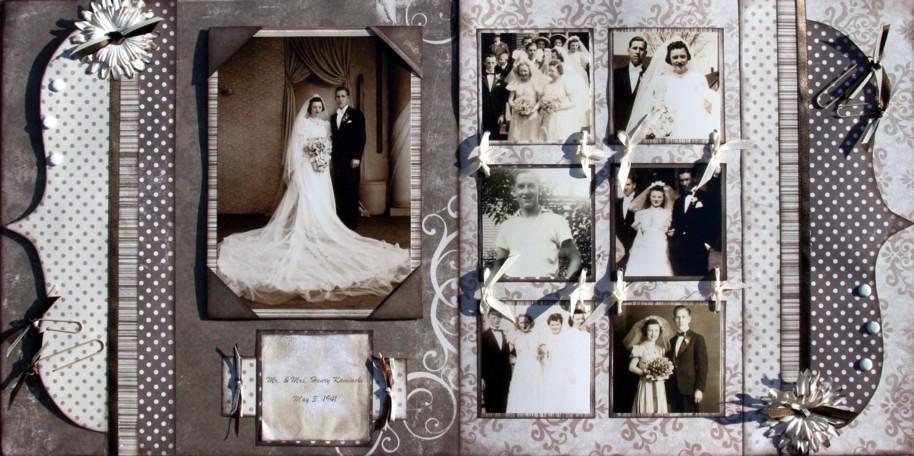 Wedding Scrapbook Paper Brown Paper Vintage Wedding