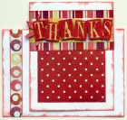Scraptique Thanks Card Kit