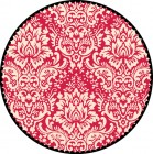 Various Paper Jenni Bowlin Red/Black Red Circle Damask Die Cut